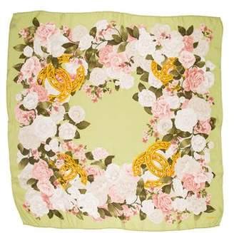 Chanel Silk Chiffon Camellia Scarf