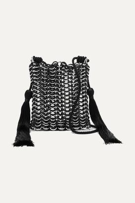 Carolina Santo Domingo Luisella Tasseled Resin And Silver-tone Shoulder Bag - Black