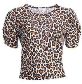 A.L.C. Kati Leopard Print Cotton Tee