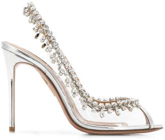 Aquazzura Temptation Crystal sandals