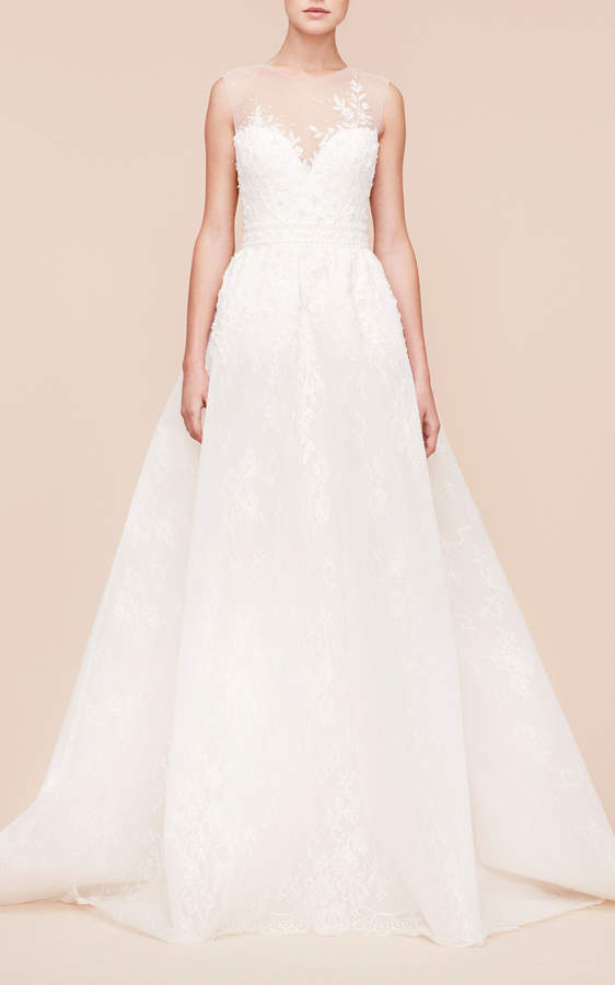 Georges Hobeika Bridal Sleeveless Lace Gown