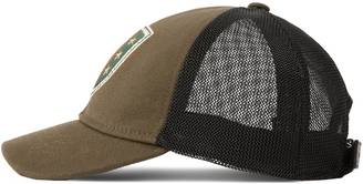 Canvas hat with Web crest and stars $380 thestylecure.com