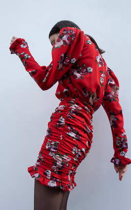 Magda Butrym Barletta Printed Silk-Organza Mini Dress