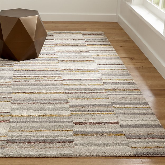 Crate & BarrelCeres Striped Rug