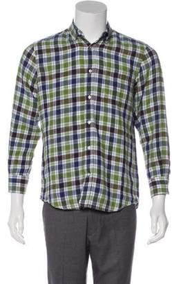 Vince Plaid Woven Shirt