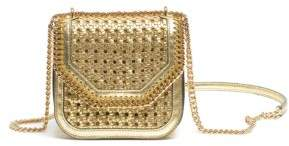 Stella McCartney Metallic Wicker Shoulder Bag