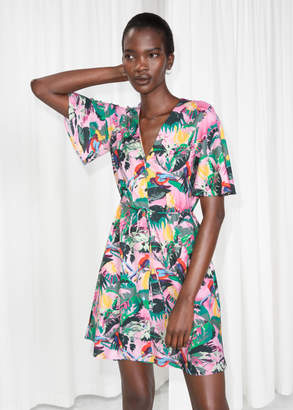 And other stories Tropical Print Dress