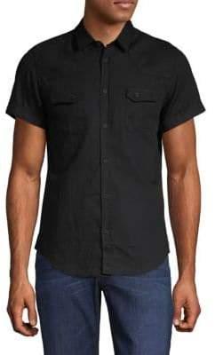 The Kooples Short-Sleeve Button-Down Shirt