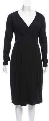 Zero Maria Cornejo Long Sleeve Wrap Dress