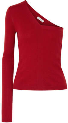 Narciso Rodriguez One-shoulder Cashmere Sweater - Claret