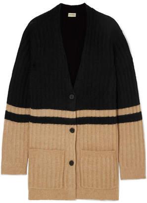 By Malene Birger Congoe Striped Knitted Cardigan - Beige