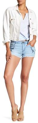 Romeo & Juliet Couture Embroidered Cutoff Shorts