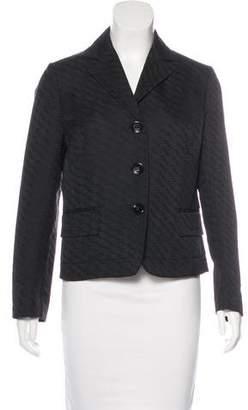Valentino Textured Button-Up Blazer