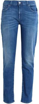 7 For All Mankind Distressed Faded Boyfriend Jeans