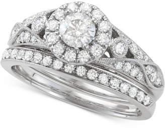 Macy's Diamond Openwork Halo Bridal Set (1 ct. t.w.) in 14k Gold