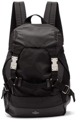 Valentino Bounce Buckled Backpack - Mens - Black