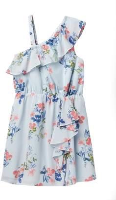 BCBGirls Ruffled Cold Shoulder Dress (Big Girls)
