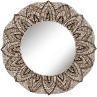 Rosecliff Heights Summerfield Natural Round Shell Mirror