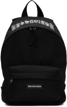 Balenciaga Black Tattoo Ville Explorer Backpack