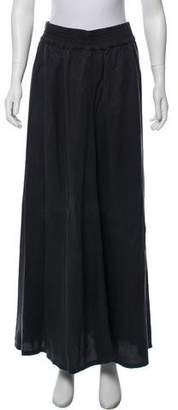 Mother Elasticized Maxi Skirt