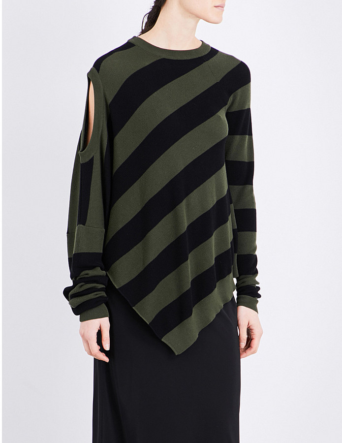 A.F.Vandevorst Twist asymmetric knitted jumper