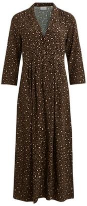 Vila Long Leopard Print Dress