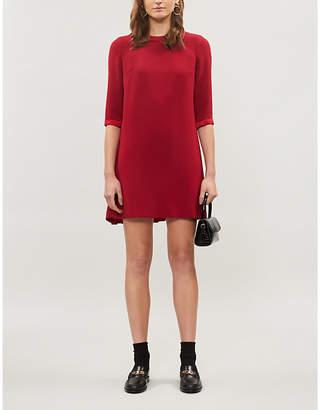 Claudie Pierlot Ribambelle scoop neck crepe mini dress