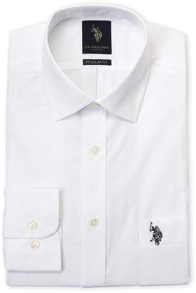 U.S. Polo Assn. White Regular Fit Dress Shirt