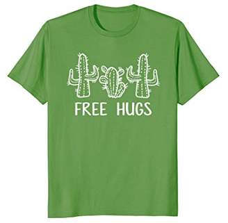 Free Hugs Funny Cactus Hipster Gift T-Shirt