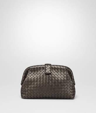 Bottega Veneta Dark Bronze Intrecciato Nappa The Lauren 1980 Clutch