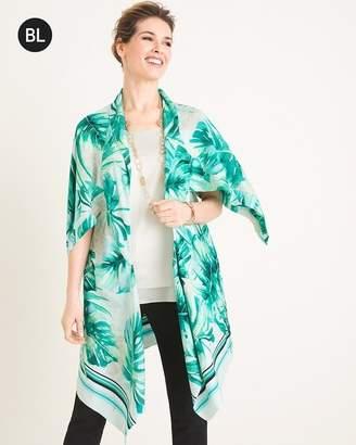 Black Label Palm-Print Kimono