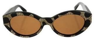 Gianni Versace Embellished Tinted Sunglasses
