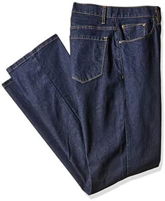 Savane Men's Big and Tall Active-Flex Dark-Rinse Stretch-Denim Jean