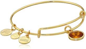Alex and Ani Bangle Bar November Imitation Birthstone Gold-Tone Expandable Bracelet