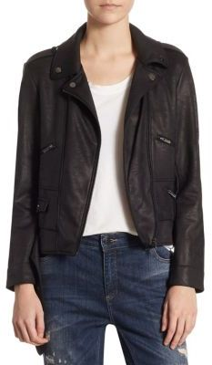 The Kooples Waxed Biker-Style Jacket $295 thestylecure.com