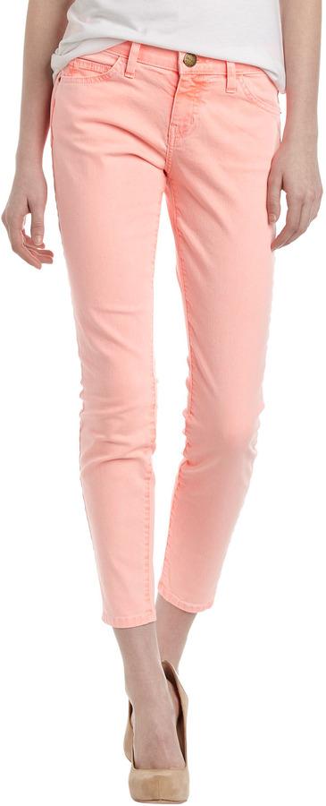 Current/Elliott Stiletto Cropped Jeans, Orange