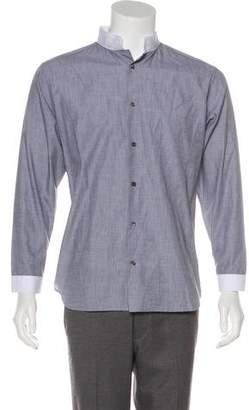 Christian Dior Point Collar Button-Up Shirt