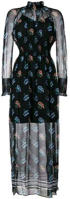 Markus Lupfer patterned sheer dress
