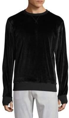 Crewneck Velour Pullover