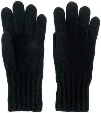 Fendi logo knitted gloves