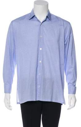 Charvet Gingham French Cuff Shirt