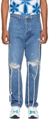 Doublet Blue Too Much Damage Jeans