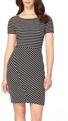 Women's Tahari Stripe Sheath Dress $128 thestylecure.com