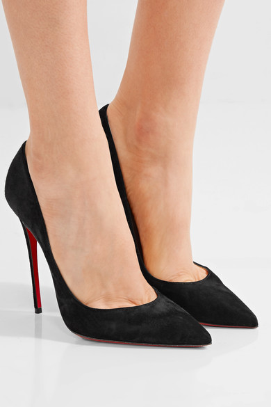 Christian Louboutin - So Kate 120 Suede Pumps - Black 2