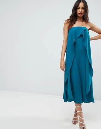 Asos DESIGN Bandeau Jumpsuit with Ruffle Overlayer