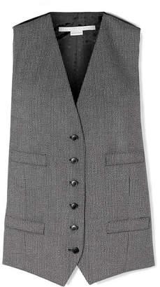 Stella McCartney Satin Jacquard-paneled Wool And Cotton-blend Vest