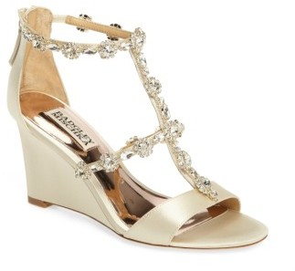 Women's Badgley Mischka Tabby Embellished Wedge Sandal $171.50 thestylecure.com