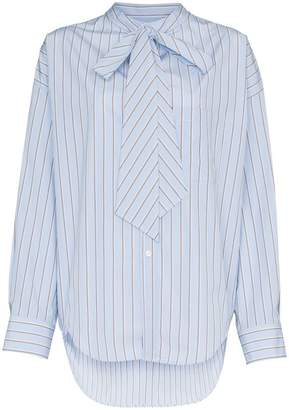 Balenciaga Striped Oversized Logo Shirt