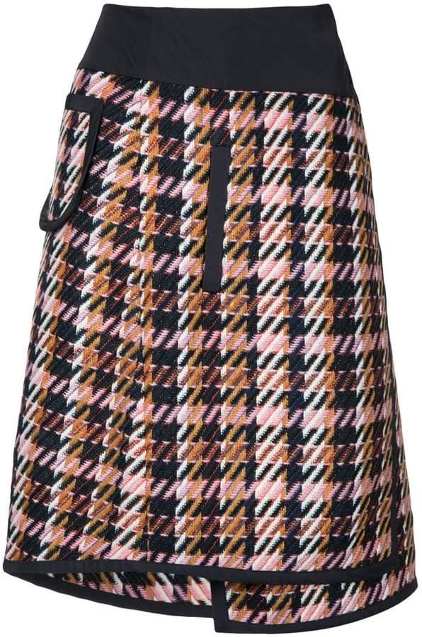 Public School Shula layered plaid skirt
