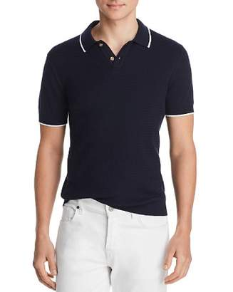 Bloomingdale's The Men's Store at Tipped Chevron-Stitch Classic Fit Polo Shirt - 100% Exclusive